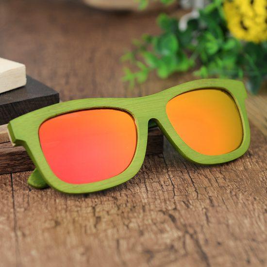 Fa napszemüveg narancs lencse